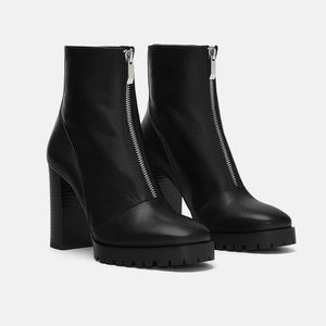 Zara leather boots size 8